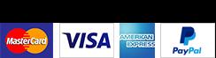 MasterCard VISA AMEX PayPal